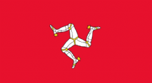 ISLE OF MAN - HAND WAVING FLAG (MEDIUM)